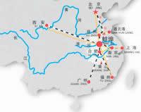 蚌埠区位图