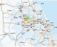 滁州市及中心城区区位
