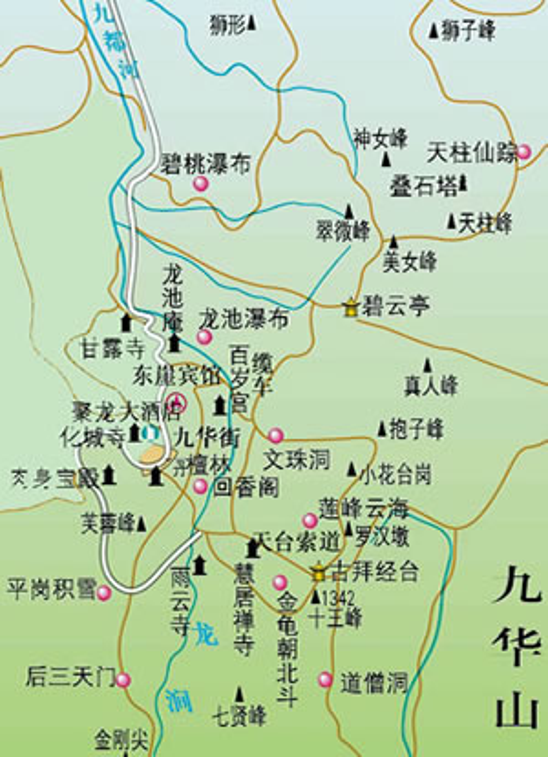 九华山导游地图