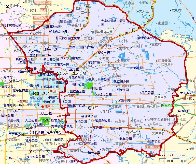 朝阳区地图 朝阳区行政区划地图 朝阳区辖区地图 朝阳