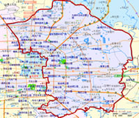 北京朝阳区行政区划图