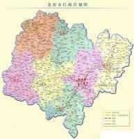 龙岩市行政区划图