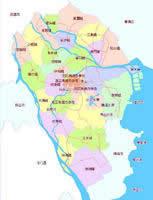 中山市行政区划图