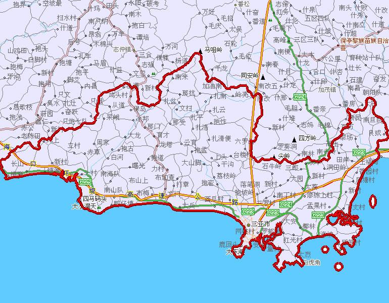 海南岛乐东地图