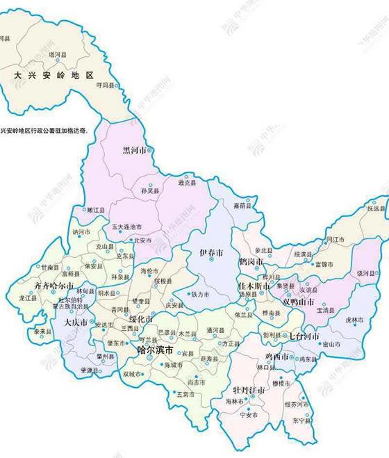 黑龙江地图高中罗志祥多重图片