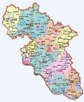 黄冈市行政地图