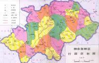 神农架林区行政区划图