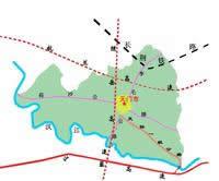 天门市交通图