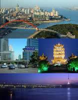 两江交汇、汉口、黄鹤楼、武汉长江大桥