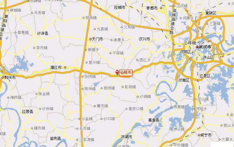 武汉市行政区划_仙桃市行政区划、交通地图、人口面积、地理位置、风景图片 ...