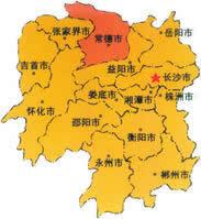 常德市地理位置