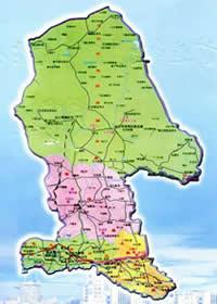 包头市行政区划图