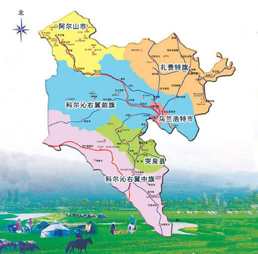 兴安盟地图