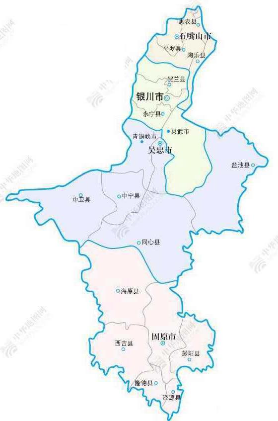 宁夏地图 宁夏街道地图