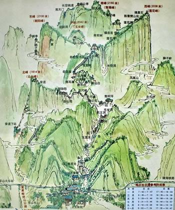 华山导游地图