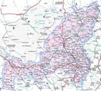 榆林市行政区划图