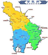 甘孜藏族自治州旅游图