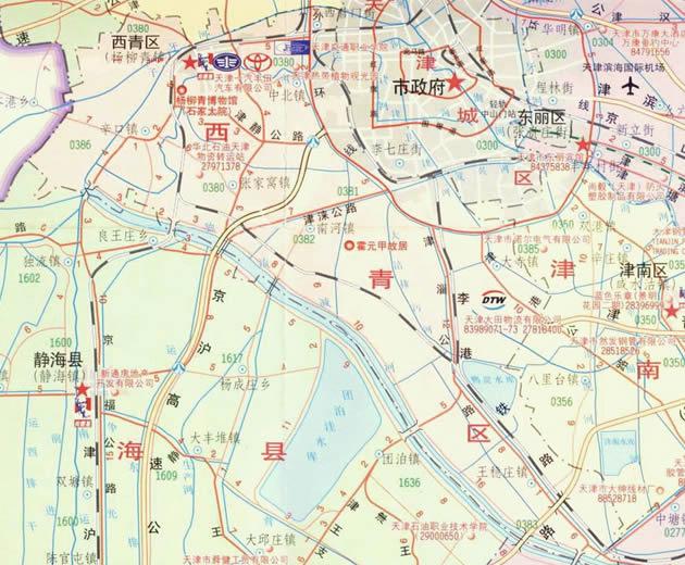 西青区地图-西青区旅游详细介绍,导游图,交通图,门票价格,自助