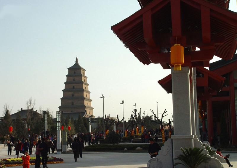 陕西 西安市 风景图片 >> 大雁塔北广场