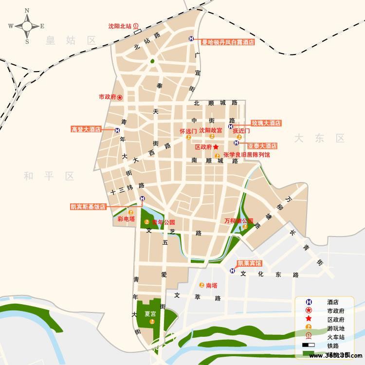 沈阳市沈河区地图