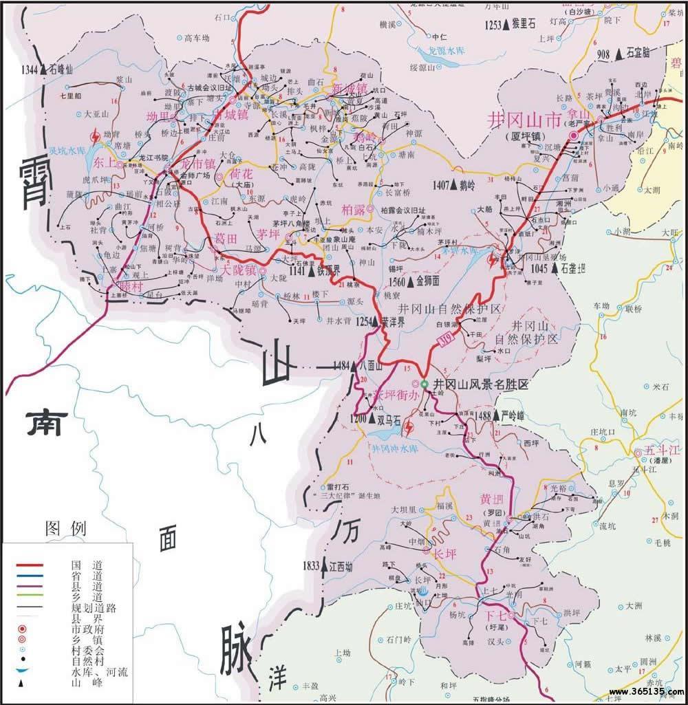 广东珠海市景点_井冈山市行政区划图 - 中国旅游资讯网365135.COM