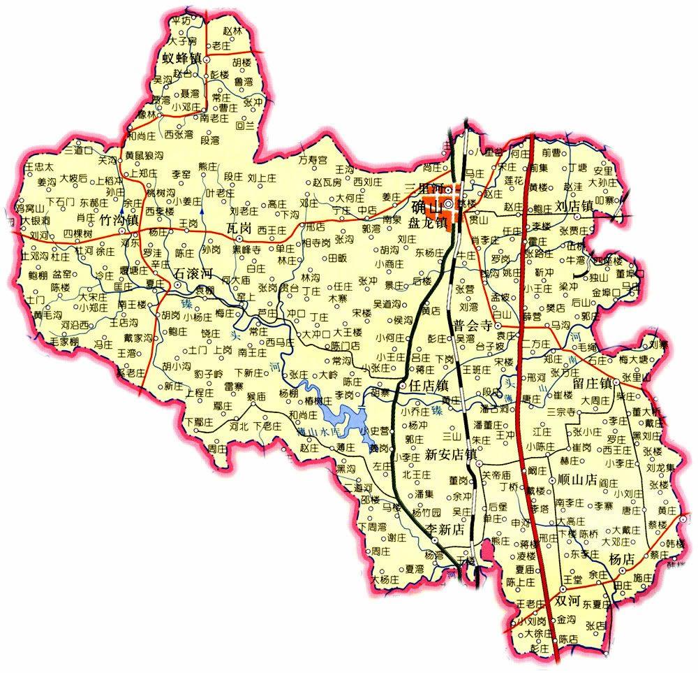 新蔡市_确山县行政区划图 - 中国旅游资讯网365135.COM