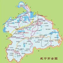 咸宁市地图