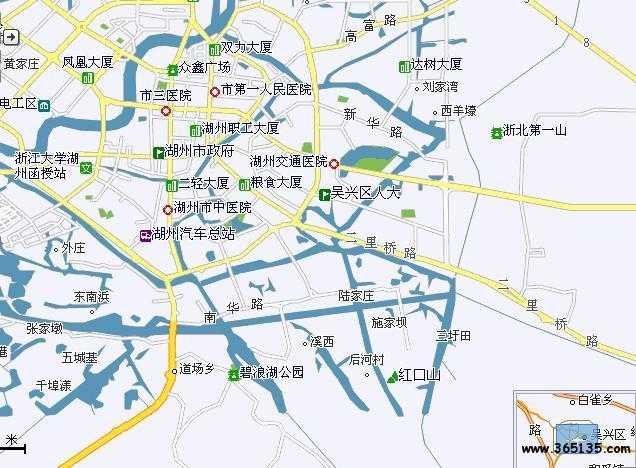政区划,交通地图; >> 湖州市吴兴区; 长三角行政地图