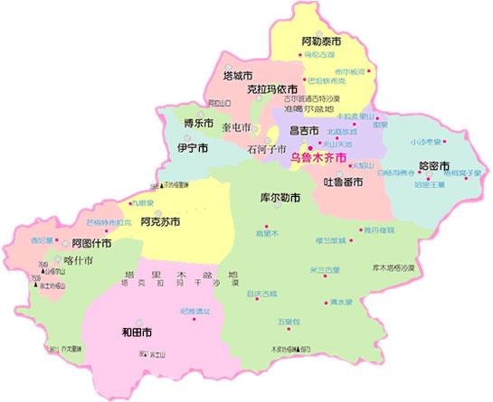 新疆地图 新疆三维地图 新疆街道地图 新疆乡镇地图