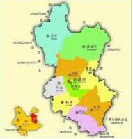 曲靖市行政区划图
